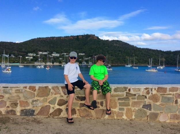 Ryan & Ronan, Sásta (happy) at Fort Berkely, Antigua