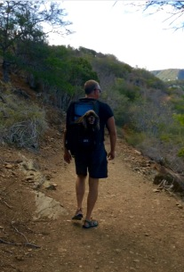 Patton taking Randy for a hike in Antigua