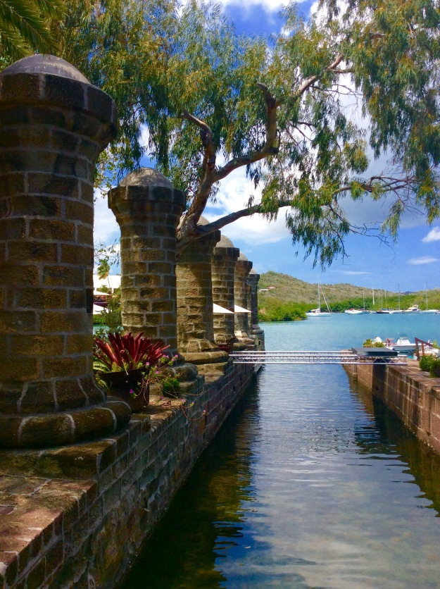 The Remains of the 18th Century Boat House Pillars, Nelson's Dockyard, Antigua