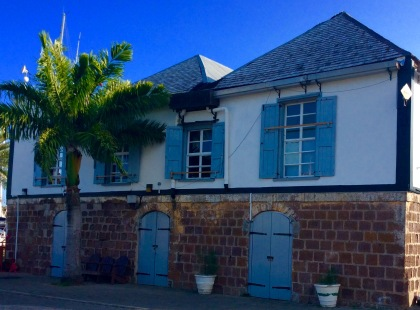 The old Officer's Quarters now houses the marina office & other yacht service providers
