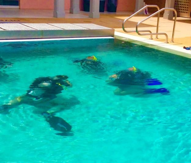 Ryan & Randy's first breaths under the water
