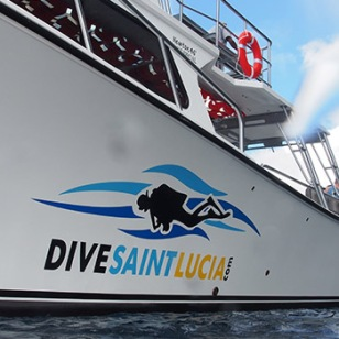 Dive St. Lucia boat