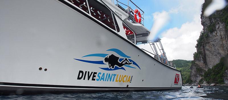 Dive St. Lucia boat