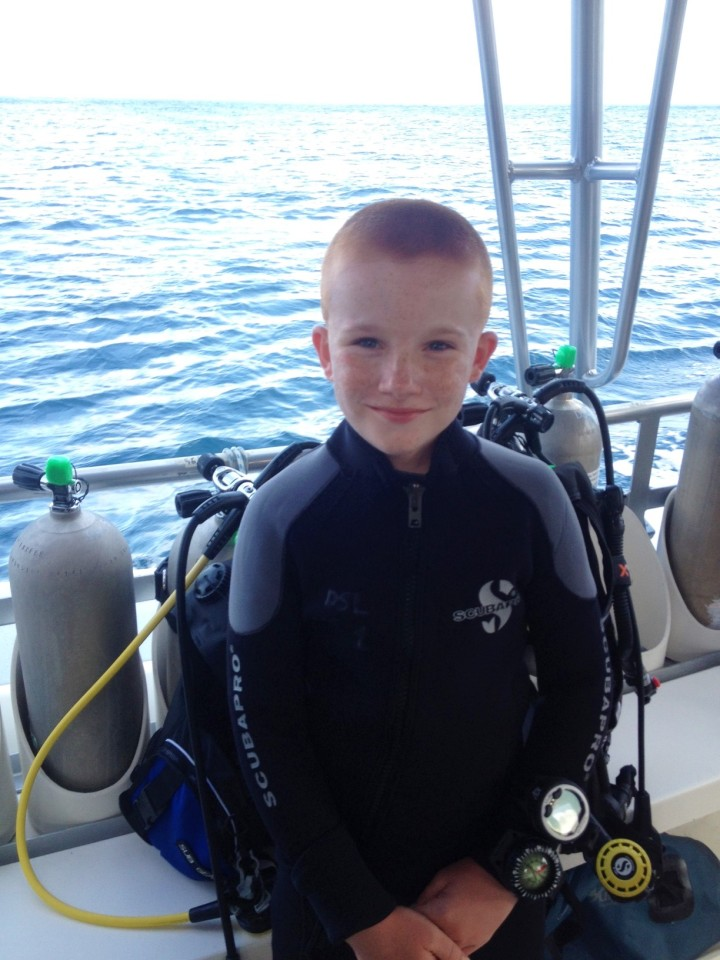 Ryan getting ready to dive, St. Lucia