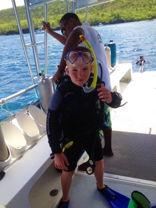Ready to dive, St. Lucia