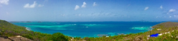 Mayreau looking towards the Tobago Cays