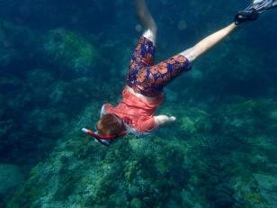 Ronan freediving, Admiralty Bay, Bequia
