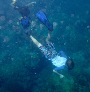 Ryan freediving, Admiralty Bay, Bequia