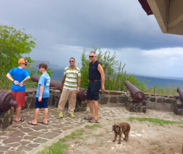 Touring Bequia with Gideon, Fort Alexander