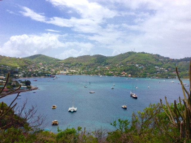 Admiralty Bay looking south from Fort Hamilton, Bequia (Spot Pilots' Discretion)