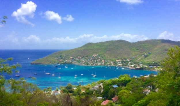 Looking north over Admiralty Bay, Bequia, north (Spot Pilots' Discretion)