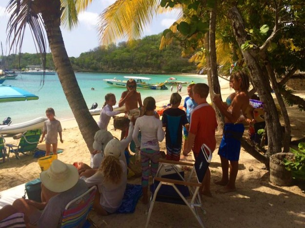 Boat kid (Cole's) birthday party, Salt Whistle Bay, Mayreau