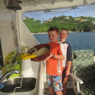 Popcorn aboard M/V Seamantha