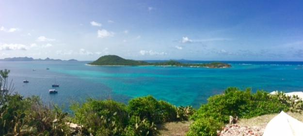 View from atop Petite Martinique, Grenada (looking towards Petite St. Vincent (spot Pilots' Discretion)