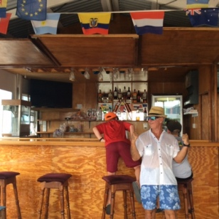 Open for service, Ryan, Ronan, and John, Petite Martinique Grenada