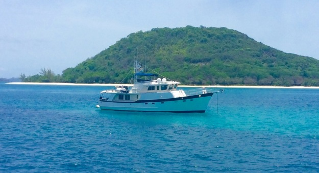 M/V Seamantha anchored off Petit St. Vincent