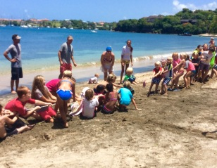 Mini-Olympics, tug-of-war in Grenada