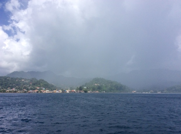 Storm passing over Gouyave, St. John, Grenada