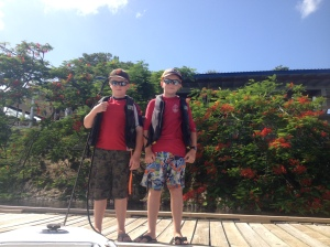 Ronan and Ryan on the GYC dock