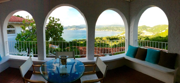 Upper balcony view, Mount Cinnamon Resort villa, Saint Georges, Grenada