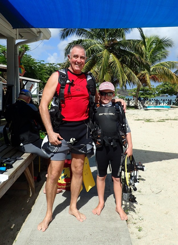 Randy and Ryan ready to dive Grenada!