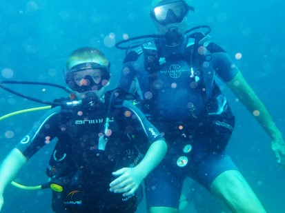 Dive buddies, Ryan and Randy, Flamingo Bay, Grenada