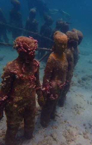 Circle of children, Underwater Sculpture Park, Molinere Bay, Grenada