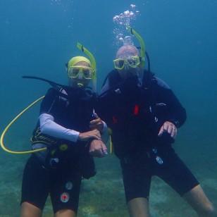 Paulette & John, Underwater Sculpture Park, Molinere Bay, Grenada