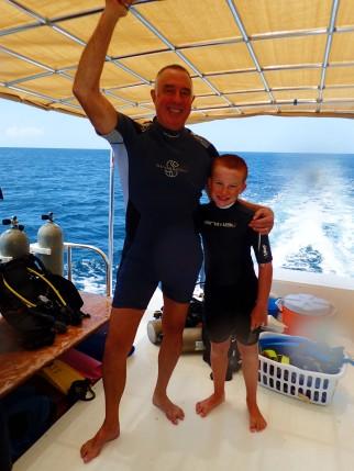 Randy & Ryan, another great dive! (Grenada)