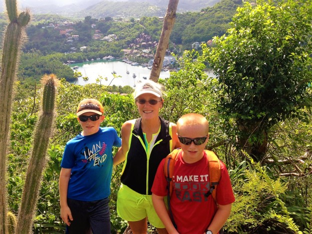 Ryan, Theresa and Ronan, Marigot Bay, St. Lucia