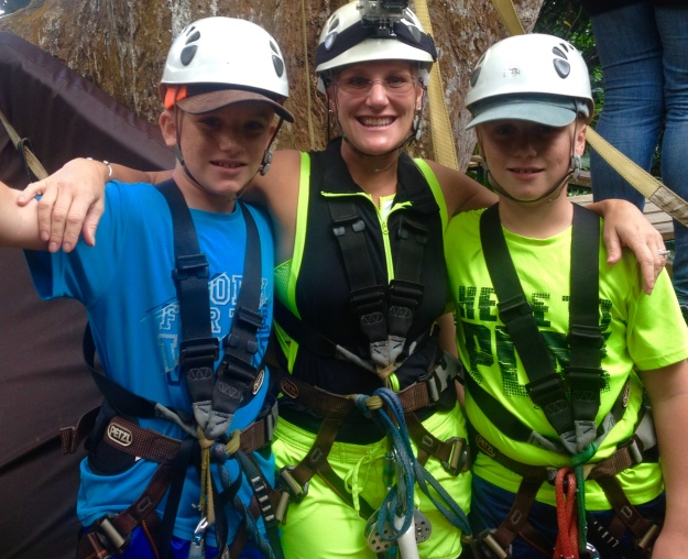 Ryan, Theresa and Ronan, Rain Forest Adventures, St. Lucia
