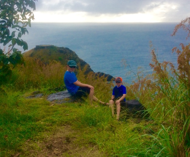 Ronan and Ryan, Fort Rodney, St. Lucia