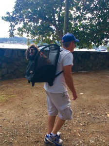 Patton and James, hiking to Fort Rodney, St. Lucia