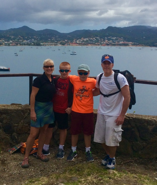 Theresa, Ryan, Ronan, James and Patton, Fort Rodney, St. Lucia