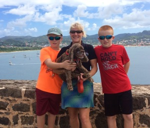 Ronan, Theresa, Ryan and Patton, Fort Rodney, Pigeon Island, St. Lucia