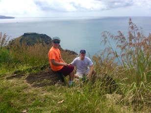 Ronan and James, Fort Rodney, Pigeon Island, St. Lucia