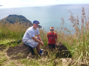 James and Ryan, Fort Rodney, Pigeon Island, St. Lucia