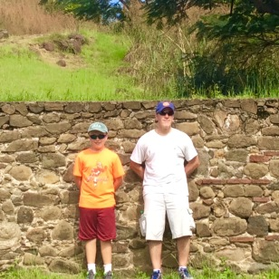 James and Ronan, Fort Rodney, Pigeon Island, St. Lucia