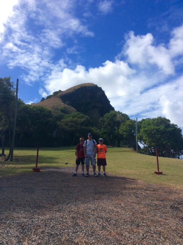 Ryan, James and Ronan, Pigeon Island, St. Lucia