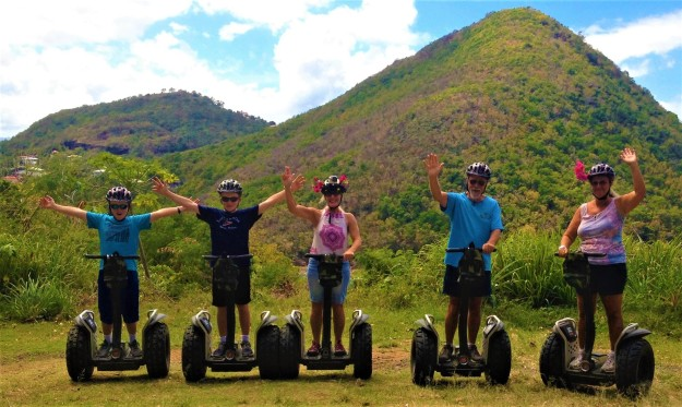 Ronan, Ryan, Theresa, Ralph and Rita, Segway in St. Lucia