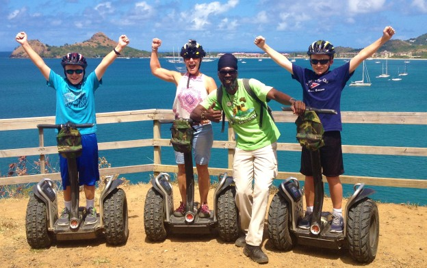 Ronan, Theresa, Roland, and Ryan, Segway in St. Lucia