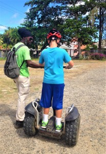 Roland and Ryan, Segway training in St. Lucia