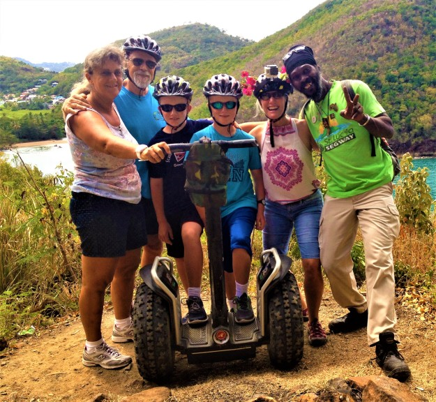 Rita, Ralph, Ryan, Ronan, Theresa and Roland, Segway in St. Lucia