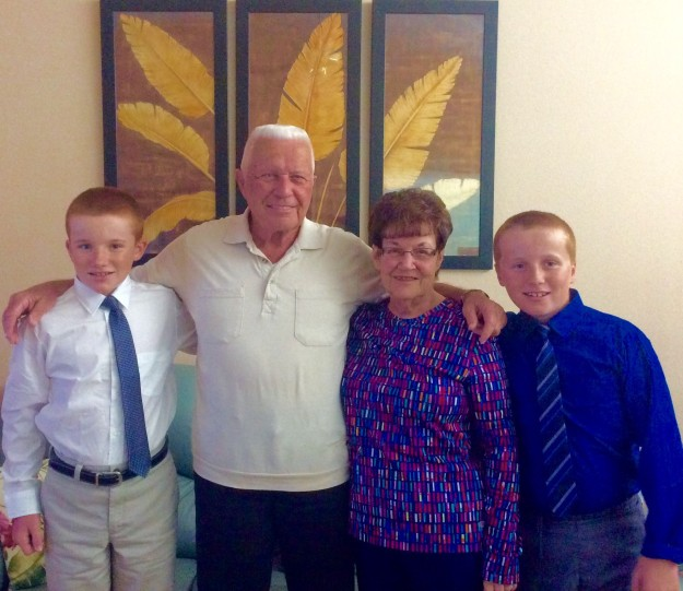 Ryan, Jim (GrandpaSir), Lorraine (Nana) and Ronan