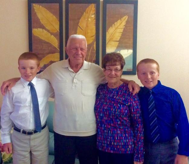 Ryan, Jim (GrandpaSir), Lorraine (Nana) and Ronan