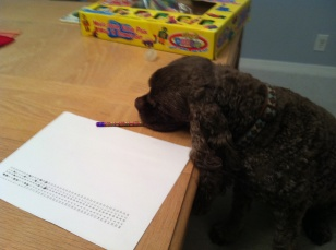 Patton helping Theresa study for the bar