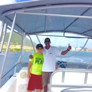 Ronan & Captain W., Dive St. Luicia Boat
