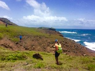 John, Ronan & Paulette, on the northeast coast of St. Lucia hike