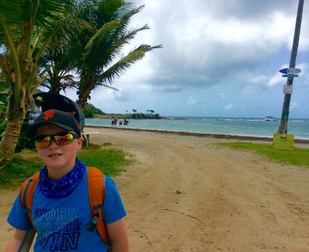 Ronan, hiking the mortheast coast of St. Lucia
