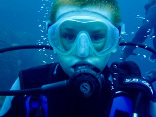 Ryan, diving in St. Lucia